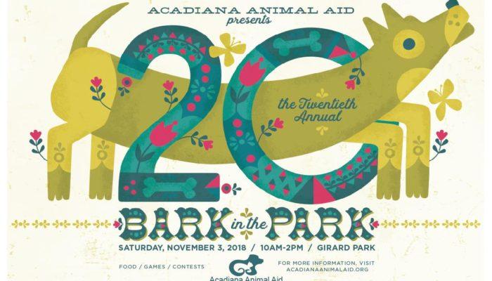 Acadiana Animal Aid Hosts 20th Annual Bark in the Park